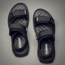 Fashion Sandals Men Shoes Summer Gladiator Man Beach Sandals Men's Outdoor Shoes Roman Men Casual Shoes Flip Flops Breathable недорого
