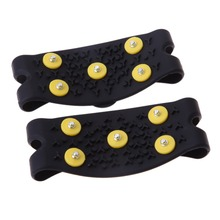 Sports Entertainment - Skiing  - New Snow Ice Climbing Anti Slip Spikes Grips Crampon Cleats 5-Stud Shoes Cover ISP