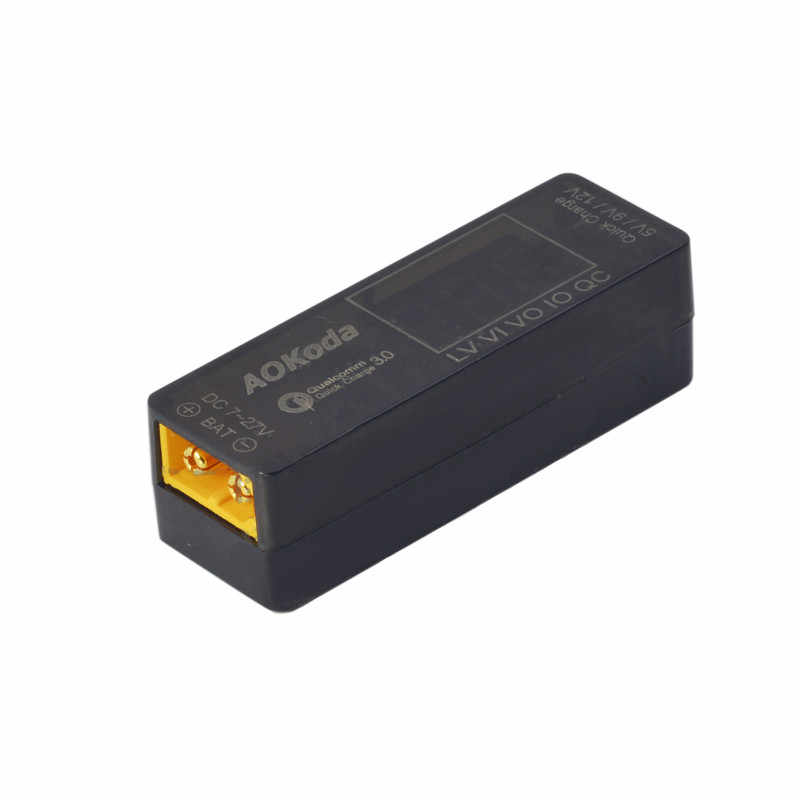 AOKoda Lipo to USB Power Converter QC3.0 Adapter Quick Charger for Smartphone Tablet PC Lipo Battery Testor Indicator RC Models