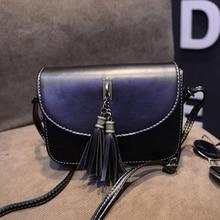 New British Fashion Handbags Minimalis Trend Women PU Leather Shoulder Bags Vintage Tassel Women Messenger Bags