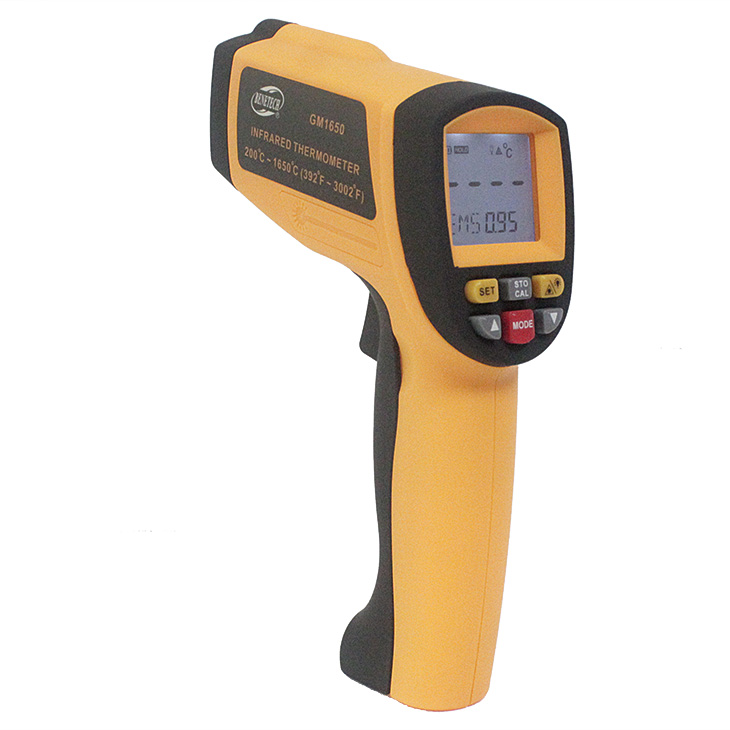 handheld temperature gun handheld infrared temperature sensor accurate non contact thermometer gm1650 Benetech