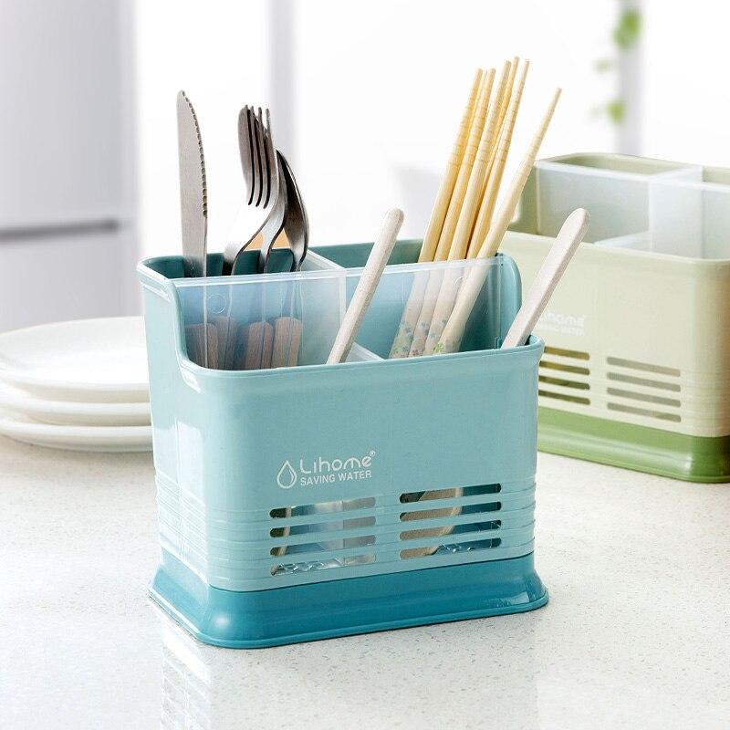1pc Kitchen Candy Color Hollow Chopsticks Cage Creative Kitchen Chopsticks Tableware Drain Storage Chopsticks Rack