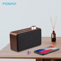 Wood Portable Bluetooth Speaker HIFI Wireless Sound box Subwoofer Stereo Bass Music Loudspeaker Speakers Support TF AUX USB