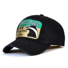 2019 High Quality DSQICOND2 Cotton Black Baseball Cap Men Dad Hats Casquette Adjustable