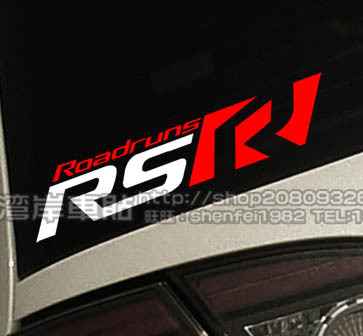 Xgs decal modified car stickers street racing style rsr roadruns racing reflective car stickers in car stickers from automobiles motorcycles on
