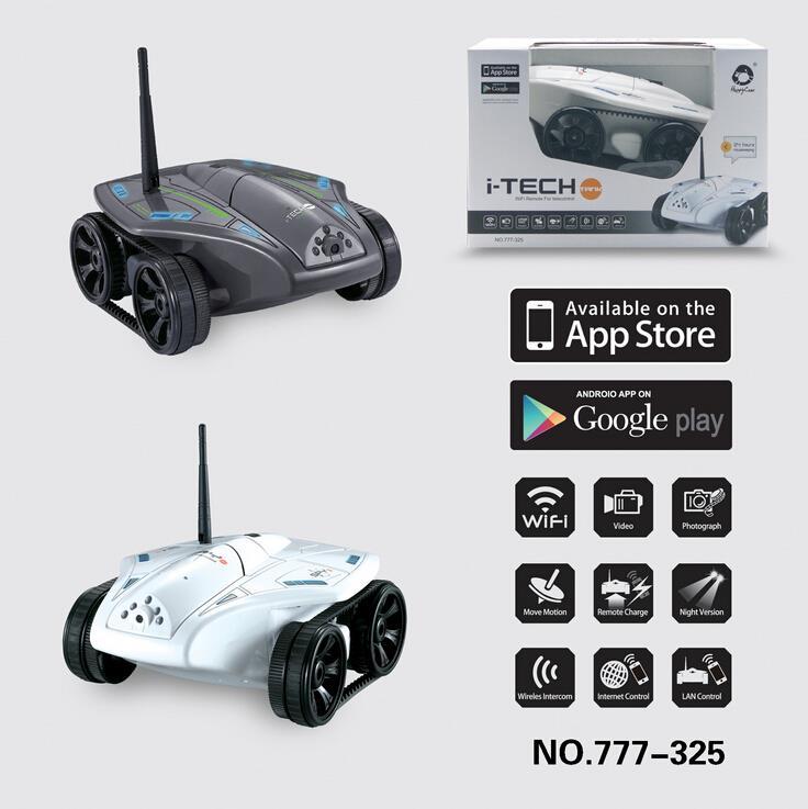 Livraison gratuite 2015 nouveaux jouets de contrôle Wifi rc avec caméra wifi réservoir WIFI pour iPhone/iPad/iPod réservoir voiture rc