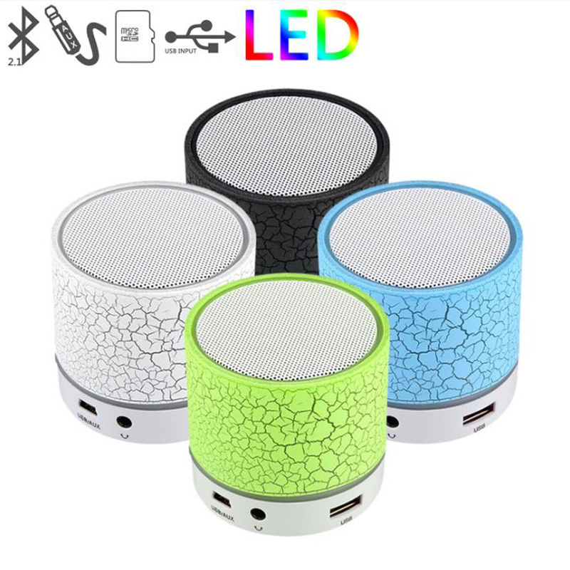 WIRELESS MINI LED LIGHT BLUETOOTH SPEAKER WITH USB TF BLUETOTH FM RADIO COLORFUL LED LIGH PORTABLE