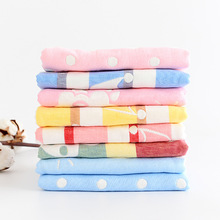 30*50cm Soft 100% Cotton Gauze Muslin Baby Towel Newborn Infant Cartoon Cotton Towel AbsorbingTowels Soft Wash cloth