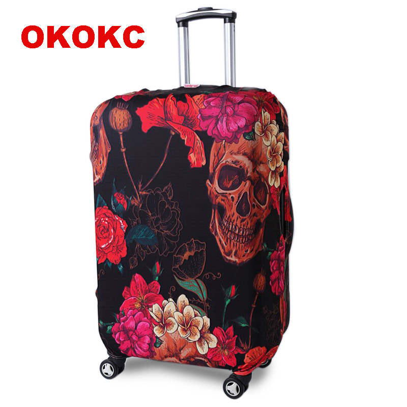 OKOKC Retro Red Travel Elastic Luggage Suitcase Protective Cover Apply To 19''-32'' Suitcase, Travel Accessories