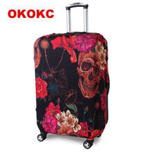 OKOKC Retro Red Travel Elastic Luggage Suitcase Protective Cover Apply to 19''-32'' Suitcase, Travel Accessories недорого