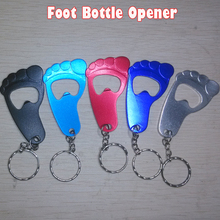 100pcs Personalize Baby Foot Keychain Bottle Opener Cute Foot Key Chain For Baby Shower Baptism Wedding Gift 1st Birthday Favor
