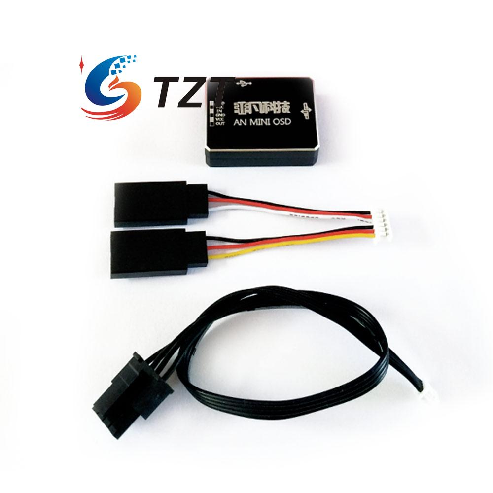 AN MINI OSD w/CAN HUB Support DJI A2 Flight Control NAZA V2 & Phantom 2 for RC Multicopter fpv s2 osd barometer version osd board read naza data phantom 2 iosd osd barometer with 8m gps module
