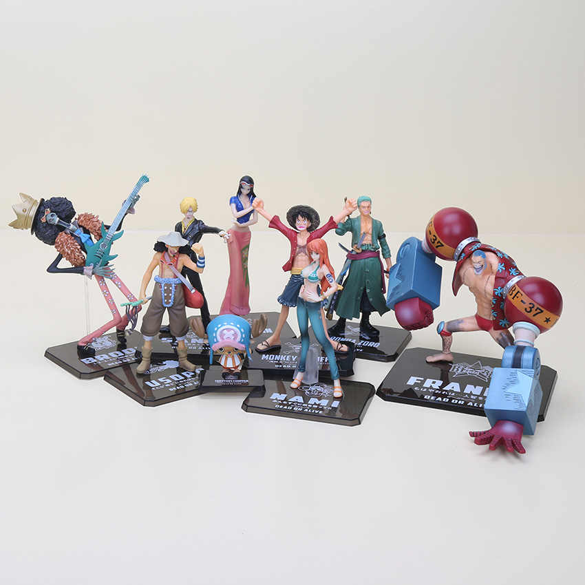 6-19cm One Piece Action Figures After 2 Years Luffy Zoro Sanji Usopp Brook Franky Nami Nico Chopper Sanji PVC figure toys