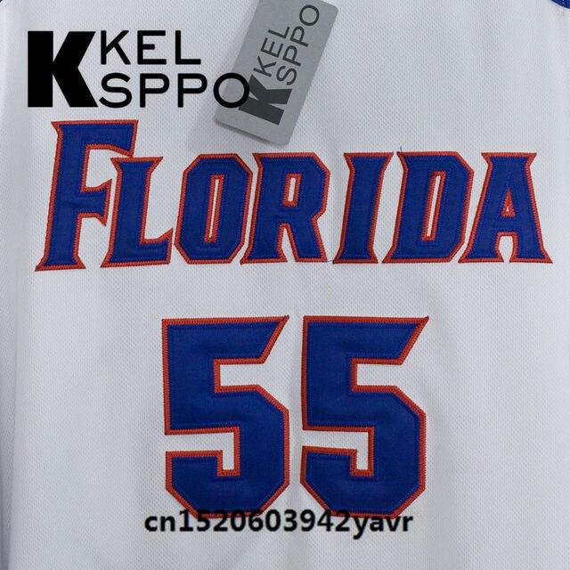new style 2a582 140a0 Custom Adult Throwback Basketball Jerseys #55 Jason Williams Florida Gators  Embroidered Basketball Jersey Size XXS-6XL