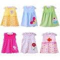 Envío libre Del Bebé Vestidos de Princesa Dress Girls 0-1años Ropa de Algodón Vestido de Ropa de Verano Para La Muchacha