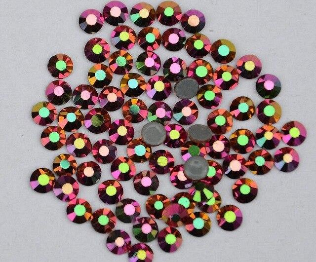 Все размеры 40 цветов кристалл AB исправление стразы, Стекло Стразы исправленное железо на Стразы для дизайна ногтей шитье и ткань Decoretion - Цвет: Rainbow Rose Gold