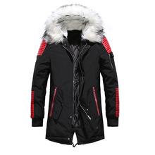 Dropshipping New Winter Jacket Men Thicken Warm Parkas Casual Long Outwear Fur Hooded Collar Jackets and Coats Men veste homme free shipping 2017 the new winter more men s long section hooded clothes leisure warm and windproof parkas winter wear coats