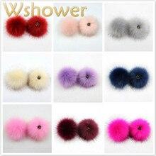 18 цветов, помпон из искусственного меха енота, цветной помпон из искусственного меха, прикрепляемый помпон из лисьего меха для сумок, обуви, шляп, брелков