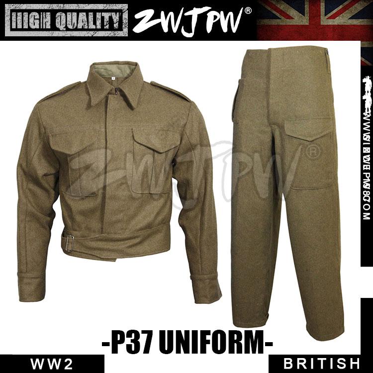 цена на WWII WW2 UK British Army P-37 Battle Winter uniform Woolen soldiers Coat Pants UK/407102