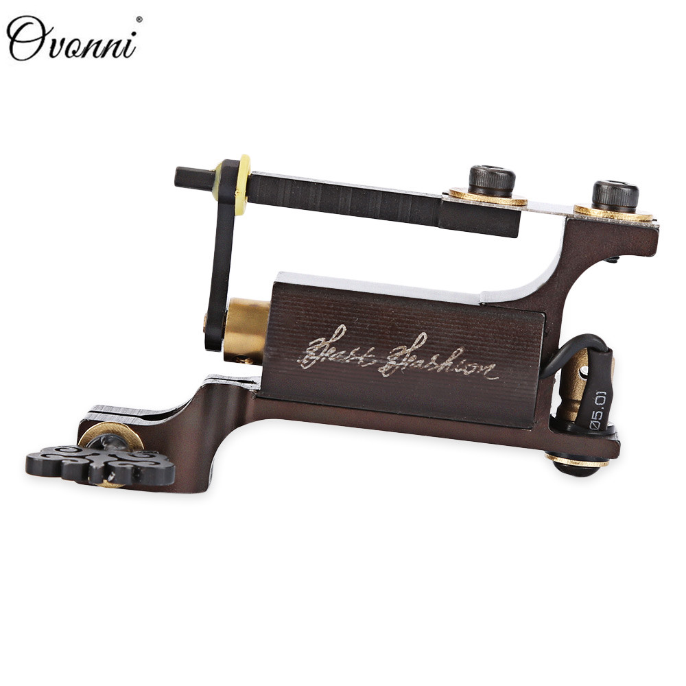 цены Ovonni Rotary Motor Tattoo Machine Gun Wire Cutting Tungsten Steel Liner Shader Professional Tattoo Gun