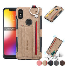 For Motorola One Power Ultra Thin Retro Durable Shockproof Back Cover Case moto one power Canvas Slim Card Slots Phone case capa