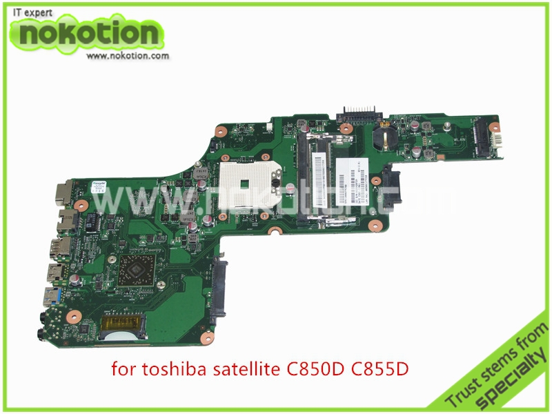 NOKOTION For toshiba satellite C850D C855D Laptop Motherboard HD 7520G DDR3 Mainboard 1310A2492002 SPS V000275280 nokotion sps t000025060 motherboard for toshiba satellite dx730 dx735 laptop main board intel hm65 hd3000 ddr3