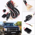 40A 14V 300W 270cm Offroad LED Driving Lamp Extention Wire Relay LED Work Light Bar Wiring Loom Harness Kit Fuse Power Off 4x4