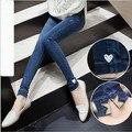 2016 Moda Coreano Maternidade Jeans Calças de Enfermagem Para A Gravidez Roupas Para Mulheres Grávidas Calças Jeans Calças Lápis