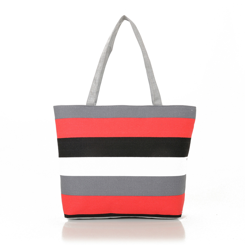 Women Casual Bags Canvas Small Fresh Woman Handbags Bags Simple Striped Female Fashion Bags new woman shoulder bags cute canvas women big bags literature and art cartoon girls small fresh bags casual tote
