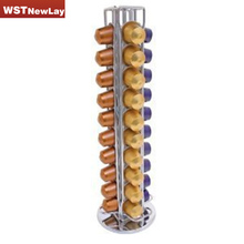2017 Holder Rotates Rack Stand Pod For Storage 40 Nespresso Coffee Capsules Free Shipping