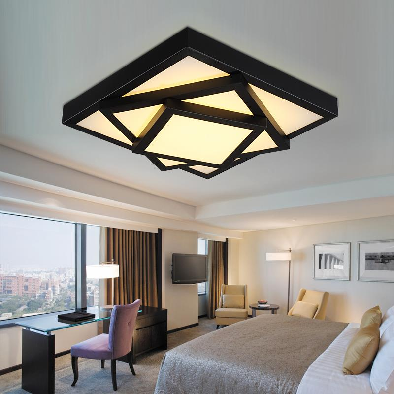 free shipping modern led ceiling chandelier lights lamp for living room bedroom lustres de sala home indoor lighting dimmable in chandeliers from lights