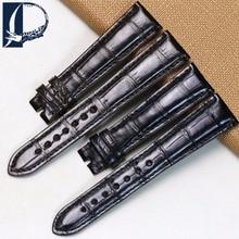 Pesno 20mm High Quality Alligator Skin Leather Watchstrap Black Dark Brown Watch Band Men Watch Accessory for Zenith