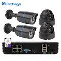 4CH 1080 P HD POE NVR CCTV Sistema de Red Impermeable Al Aire Libre de Interior cúpula 720 P P2P Cámara IP de Visión Nocturna de Vídeo de Seguridad Kit HDD