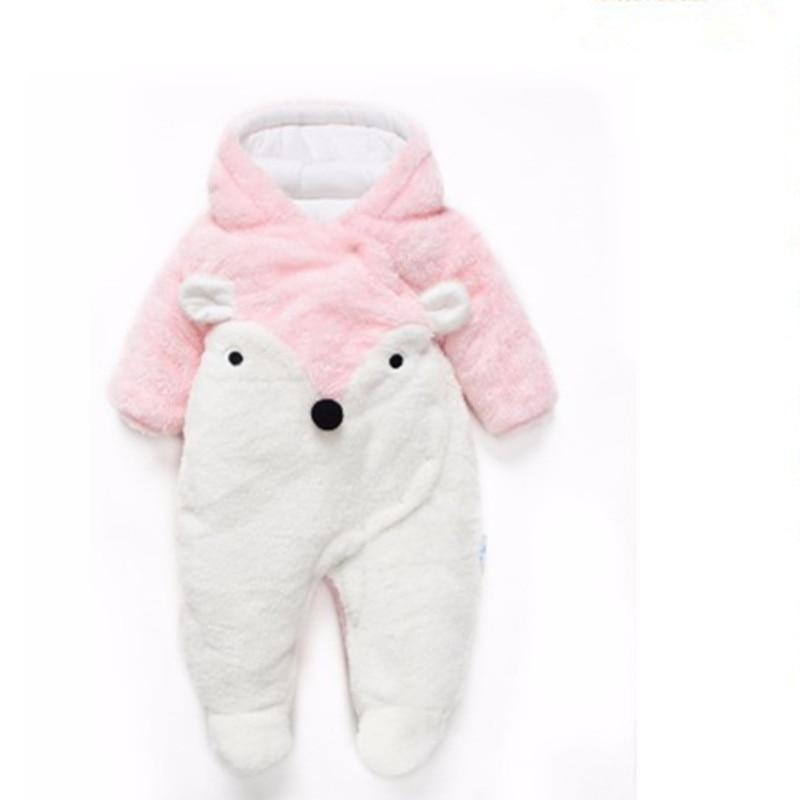 Winter Baby Romper Noworodek Ubranka z długim rękawem polar - Odzież dla niemowląt - Zdjęcie 3