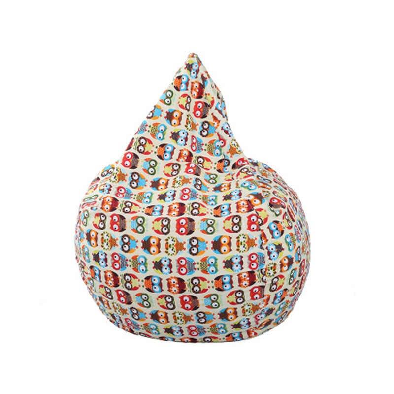 어린이 소파 만화 라운지 콩 가방 소파 커버 아니 필러 귀여운 동물 라운지 의자 소파 커버 게으른 소파 야외 1 pc