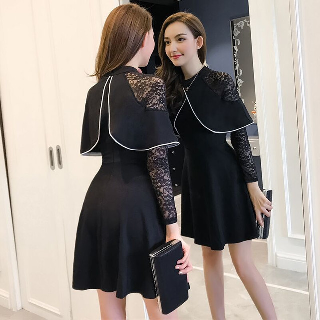 e8f25be5d Fashion Spring Autumn Women's Casual Dress Long Sleeve Mini A Line Cute Girl  Korean School o