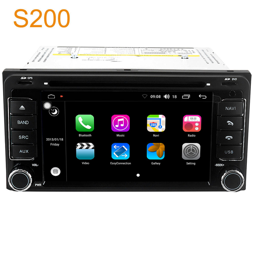 winca s200 android 8 0 car dvd radio gps navigation head. Black Bedroom Furniture Sets. Home Design Ideas