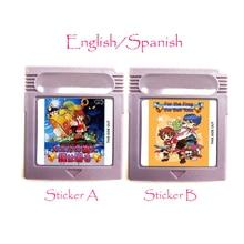 עבור הצפרדע את פעמון אגרה זיכרון מחסנית אנגלית ספרדית שפה עבור 16 קצת כף יד וידאו משחק קונסולת כרטיס אביזרים