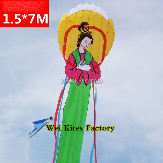 O envio gratuito de alta qualidade 7 m grande macio pipa bonita princesa para a Lua softable pipa wei pipa pipa de conto de fadas tecido