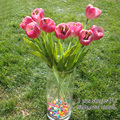 18.9'' Smile Tulip PU Latex Artificial Flowers Real Touch Wedding Decorations Flores Hot Sale Top Quality Home/Hotel Decoratives
