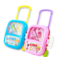 New Kids Baby Funny Play Set Children Gift Doctor Medicine Cabinet Toy With Sound Light Draggable Medical Kit Box