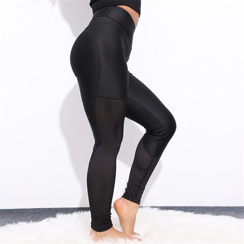 CHRLEISURE Heart Mesh Grid Leggings Women Sexy Workout Activewear Push Up Pants Elastic Breathable High Waist Fitness Leggings