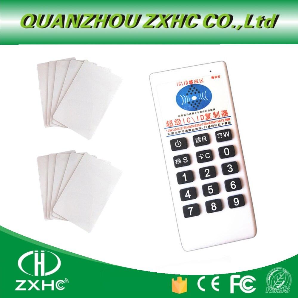 RFID 125 khz ID 13.56 mhz IC Copieur Lecteur Écrivain pour EM4305 T5577 UID Modifiable Tag + 5or10 uid