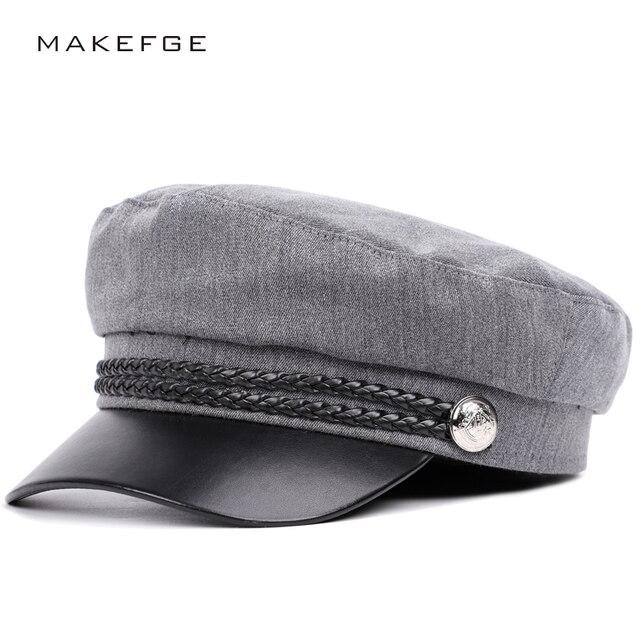 a9de17e0e4eaf Color sólido hombres y mujeres general de alta calidad militar gorras  sombrero lengua sombra lavado algodón