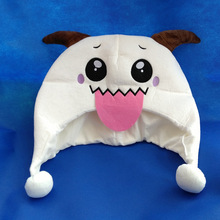 FREE SHIPPIN Movie TV Cartoon Christmas gift LOL Poro Cotton Hat Plush Warm Hats Embroidery Beanie Cosplay winter cap