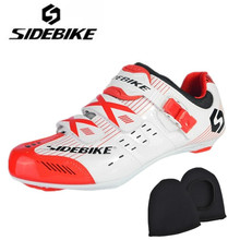 SIDEBIKE off road Cycling Shoes Men 2018 Bike Ultra light carbon fiber Sole Auto-lock Bicycle Sport Shoes Zapatillas Ciclismo