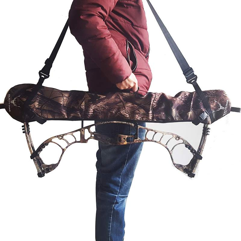Hunting Bow Carrier Sling Compound Bow Archery Holster Archery Belt Hunting Sling camo Color Compound Bow Sling