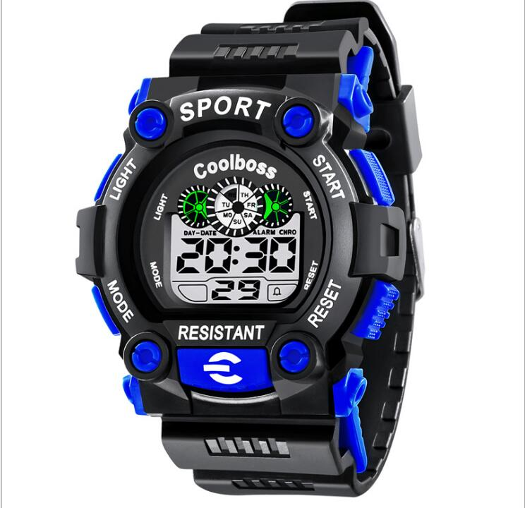 Children's Watches Kids Outdoor Sports Watches Boys 30M Waterproof LED Display Digital Luminous Calendar Watch Relogio Dw Reloj