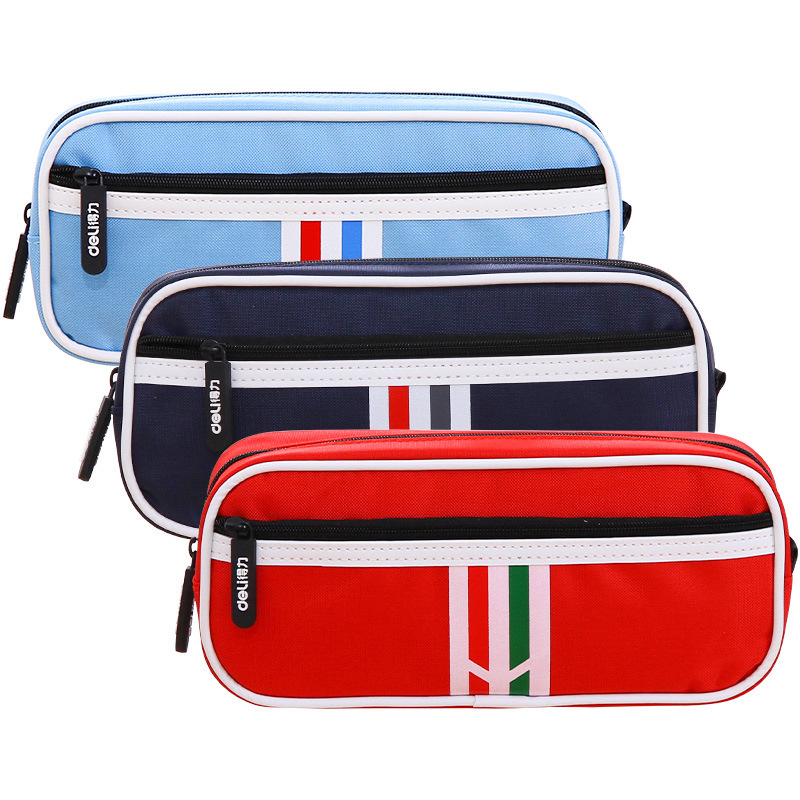 Multifunction School Pencil Case Large Capacity Canvas Pencil Case For Girls and Boys Pencil Box Stationery Bag School Supplies big capacity high quality canvas shark double layers pen pencil holder makeup case bag for school student with combination coded lock
