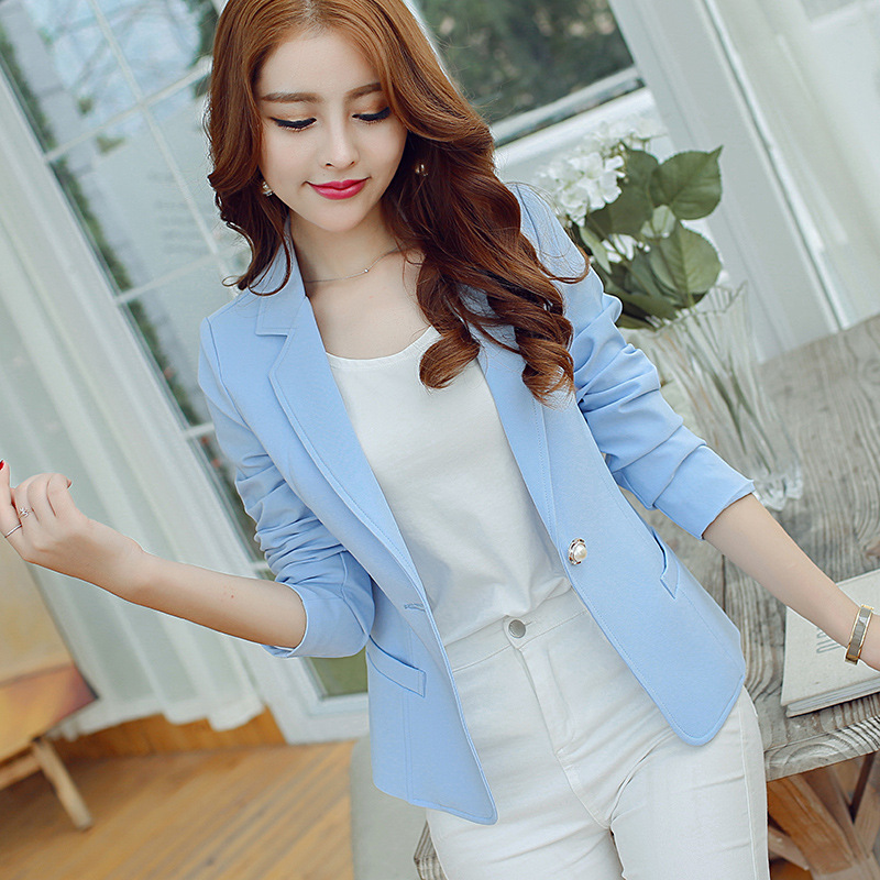 Women's suit jacket new autumn Korean version of the self-cultivation long-sleeved casual fashion small suit female jacket 2019